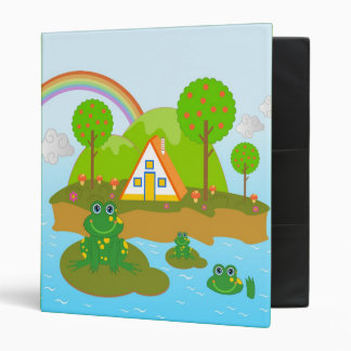 Frogs and orange trees binder