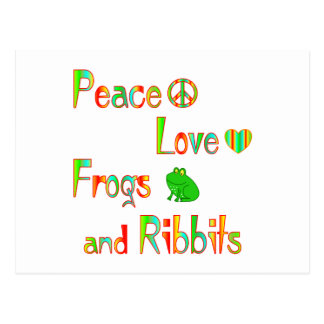 Frogs and Ribbits Postcard