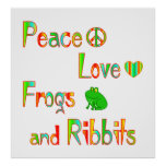 Frogs and Ribbits Poster