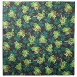 Frogs and Shamrocks Cloth Napkin