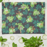 Frogs and Shamrocks Hand Towel