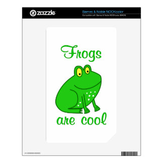 Frogs are Cool Decal For The NOOK Color
