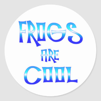 Frogs are Cool Sticker