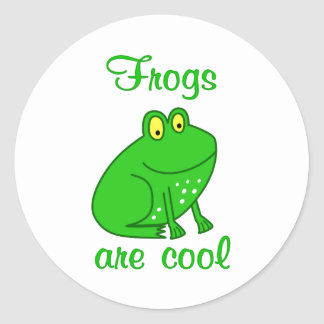Frogs are Cool Round Stickers