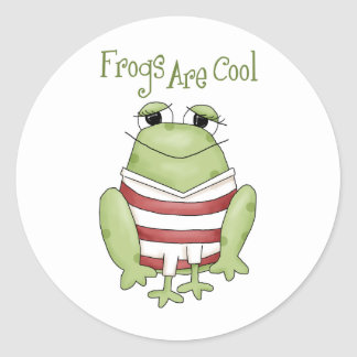 Frogs Are Cool Stickers