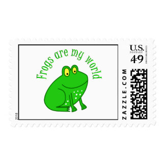 Frogs are my World Postage