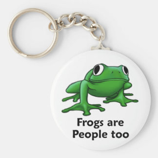 Frogs are people too keychain