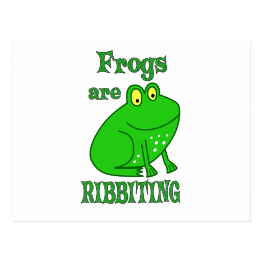 Frogs are Riveting Postcard