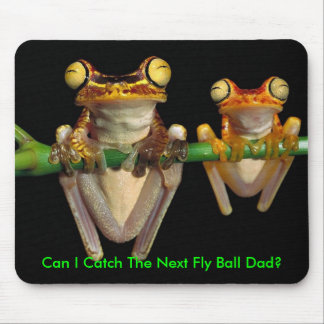 Frogs At A Baseball Game Mouse Pad