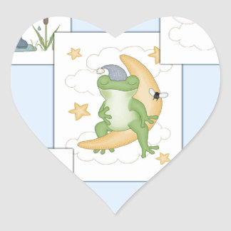 Frog's at Play Heart Sticker