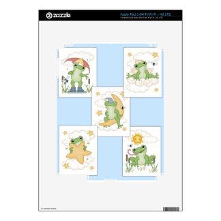 Frog's at Play iPad 3 Decal