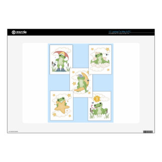 """Frog's at Play Skins For 15"""" Laptops"""