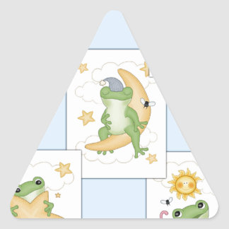 Frog's at Play Triangle Sticker