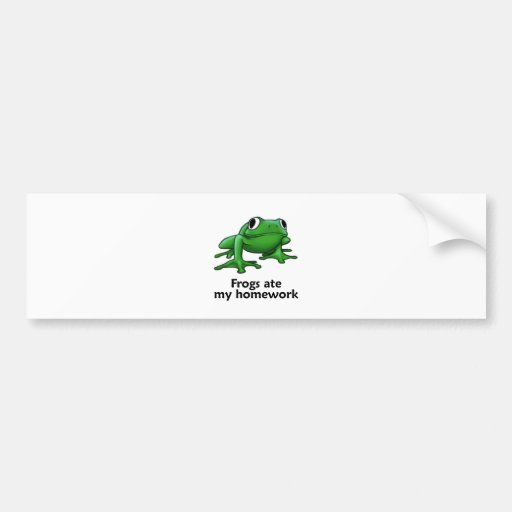 Frogs ate my Homework Bumper Sticker