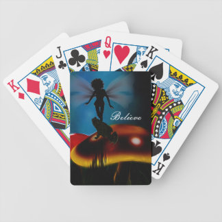 Frogs believe in fairies playing cards