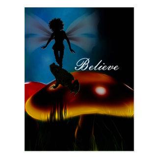 Frogs Believe in Fairies postcard print