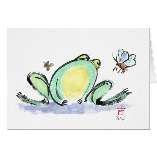 Frog's Brunch Card