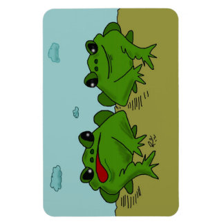 Frogs Cartoon on magnet