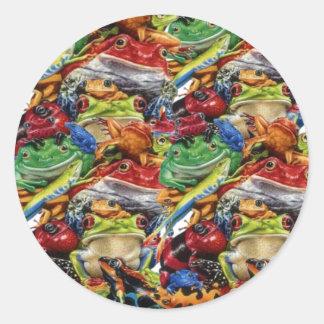 Frogs Classic Round Sticker