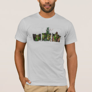 Frogs Distressed Boxes American Apparel T-Shirt