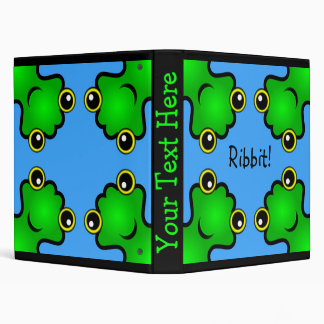 Frogs Doodle 3 Ring Binder