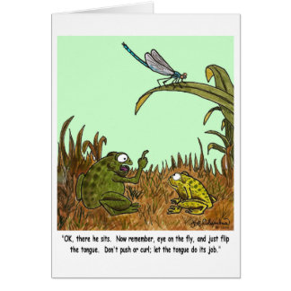 FROGS & DRAGONFLY  card