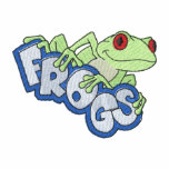 Frogs Embroidered Hooded Sweatshirt