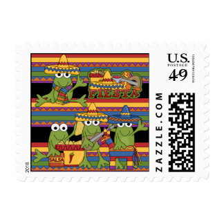 Frogs Fiesta Postage Stamps