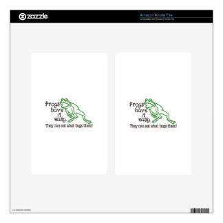Frogs Have It Easy Kindle Fire Skin
