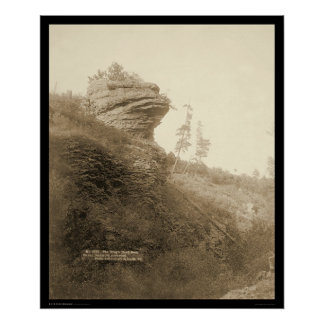 Frogs Head Rock Deadwood Stage Road SD 1890 Poster