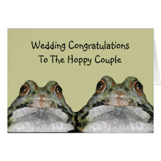 Frogs, Hoppy Couple: Wedding: Art Card