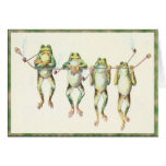 Frogs in a Line Cards