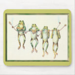 Frogs in a Line Mousemats