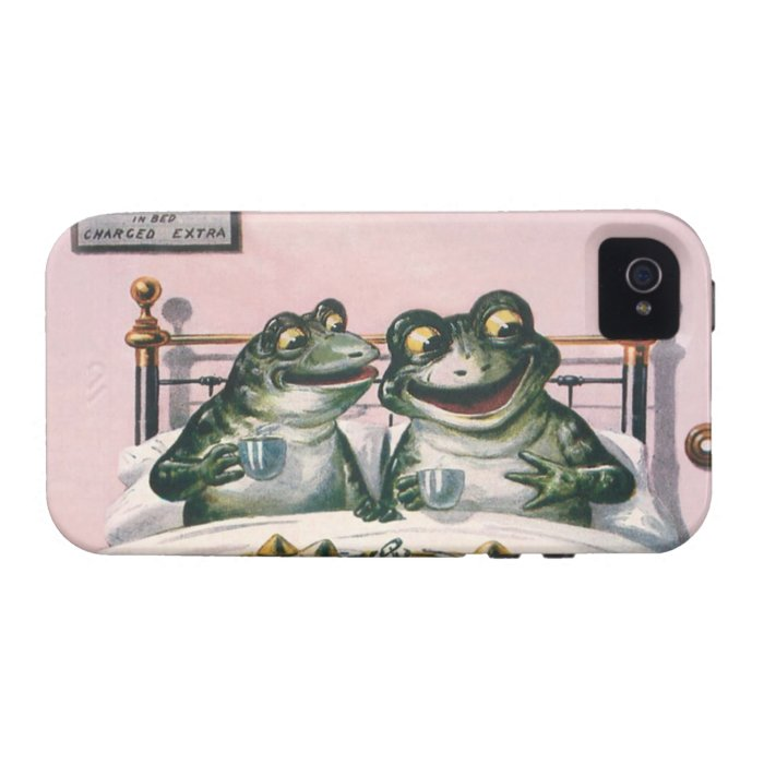 Frogs in Bed - Unique Cute and Funny Animals Case-Mate iPhone 4 Cover