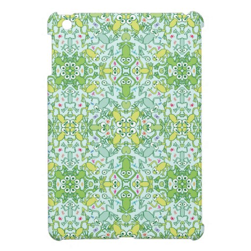 Frogs in every corner of this slimy pattern design case for the iPad mini