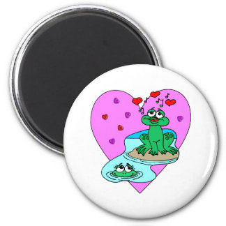 Frogs In Love 2 Inch Round Magnet