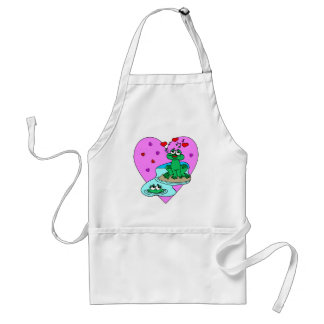 Frogs In Love Adult Apron