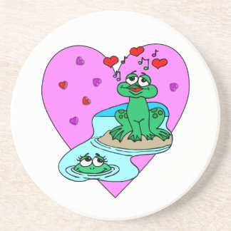 Frogs In Love Coasters