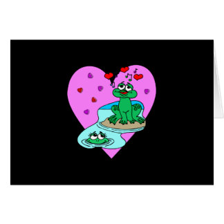 Frogs In Love Greeting Card