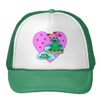 Frogs In Love Hats
