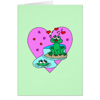 Frogs In Love Stationery Note Card