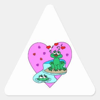 Frogs In Love Triangle Sticker