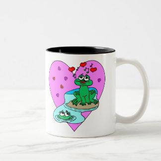 Frogs In Love Two-Tone Coffee Mug