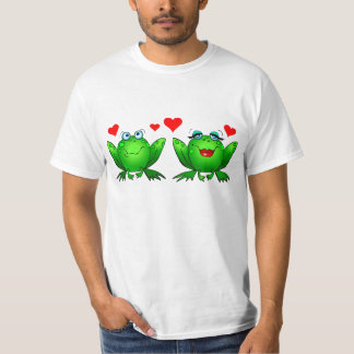 Frogs in Love White Value Tshirt
