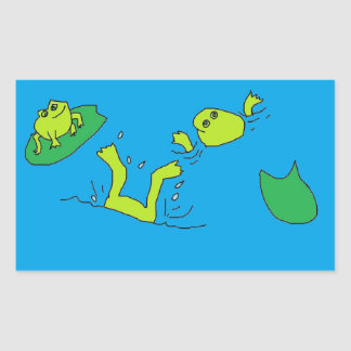 Frogs in water Stickers
