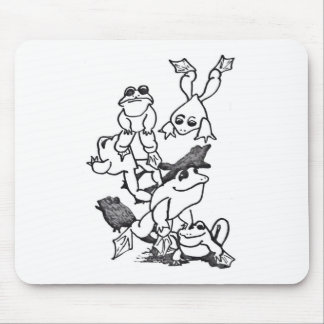 Frogs Leaping Mouse Pad
