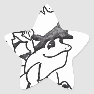 Frogs Leaping Star Stickers