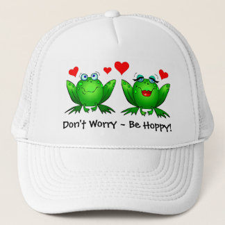Frogs Love Don't Worry Be Hoppy Hat