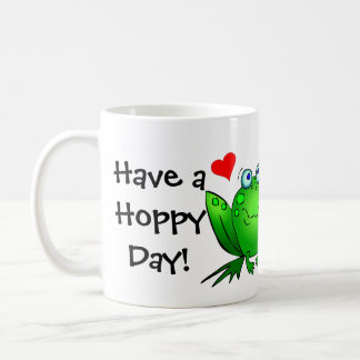 Frogs Love Have a Hoppy Day Mug