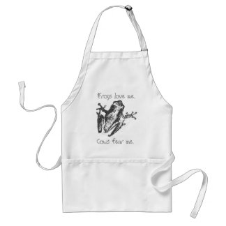 Frogs love me. adult apron